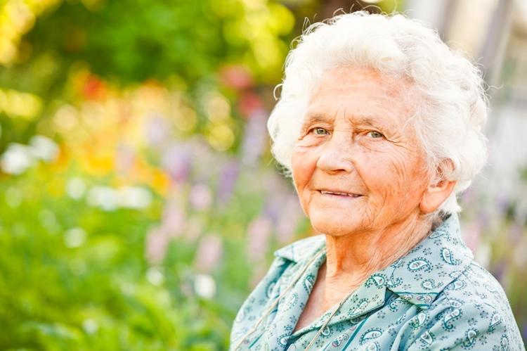 Elderly lady sticky 750px